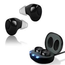 Мини Перезаряжаемые невидимый слуховой аппарат усилитель звука Регулируемый Цифровой Тон Слуховой аппарат для пожилых, слуховой потери