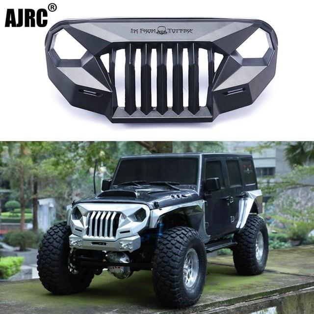 Ms raiva frente rosto grating para 1/10 rc rastreador carro trx4 axial scx10 jeep jk wrangler sema frente grille irritado rosto
