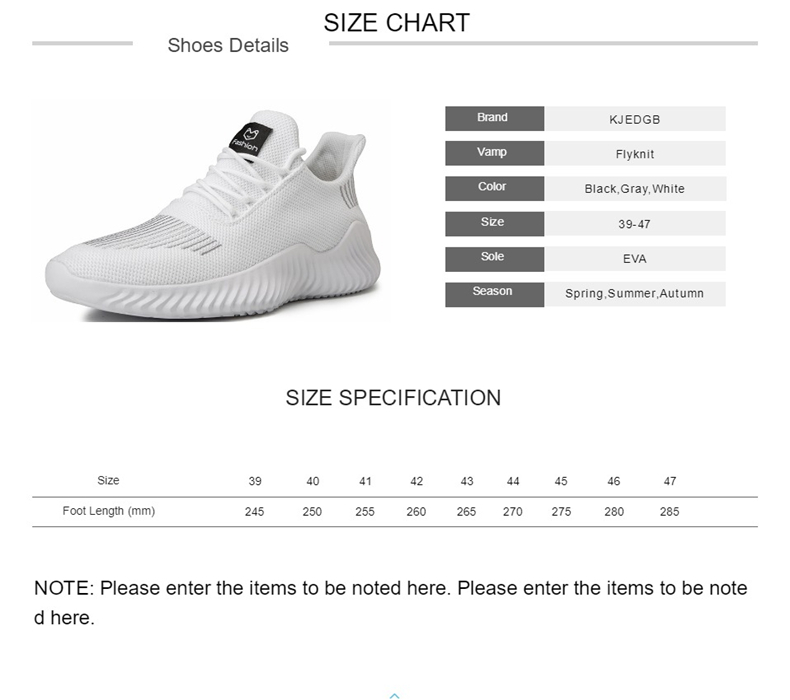 H99a34c2e4785483985e1af67a8e67f55w KJEDGB 2019 New Ultralight Men Casual Shoes Solid Black White Gray Breathable Comfortable Sneakers Big Size 39-47 Male Shoes