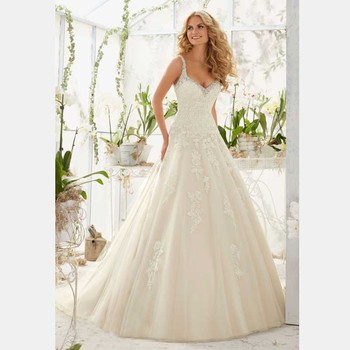 2018 A-line Spaghetti Straps V-neck Robe De Mariage Organza Bridal Gown Lace Appliques Vestidos Lace mother of the bride dresses short prom gown 2018 custom sexy women a line v neck beaded lace long sleeve vestidos de formatura mother of the bride dresses