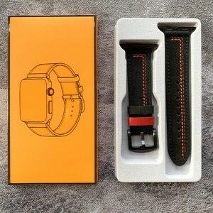 Image 5 - Ремешок из натуральной кожи для Apple Watch 6 SE, браслет для iWatch Series 5 4 3 2 1, 38 мм 42 мм 40 мм 44 мм
