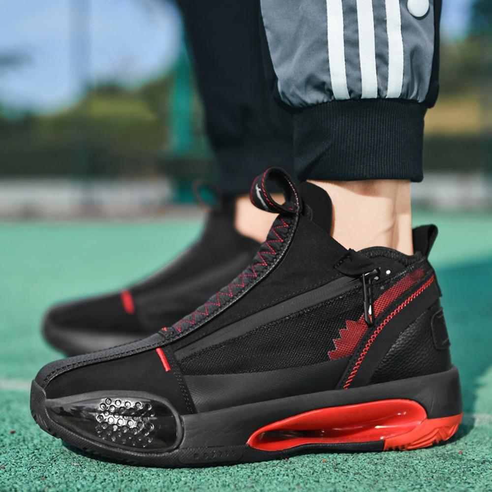 Zapatillas De Baloncesto De Alta Gama Para Hombre, Medias Ligeras, Resistentes Al Agua, Para Exteriores, Zapatos Deportivos De Baloncesto