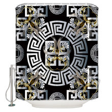 Mandala Silver Flower Circle Swirl Bathroom Accessories Waterproof Bathroom Shower Curtain With Hook Accessory(China)