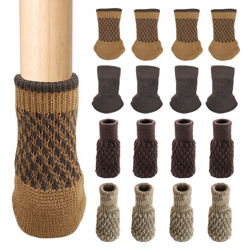 4 PCS Furniture Cover Chair Leg Socks Table Foot Pad Resistant Stool Non-Slip Floor Protector