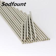 Diâmetro de aço inoxidável 2mm/2.5mm/3mm/4mm/5mm do eixo redondo do trilho linear da barra dos eixos de rc