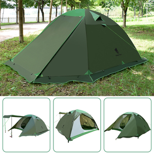 Image 5 - GeerTop Large Family Tent Four Season 4 6 Person Roof Top Winter Camping Tents Waterproof Durable Tent Outdoor Hiking Tourist