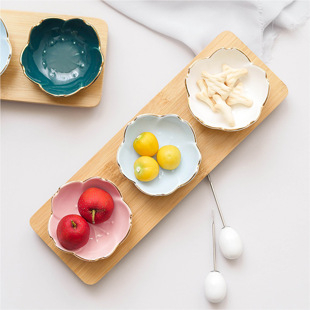 1 Piece Japanese Creative Cherry Ceramic Dish Soup Food Rice Bowl Ceramic Tableware Saucer Kitchen Dining Coffee Cup And Saucer 3