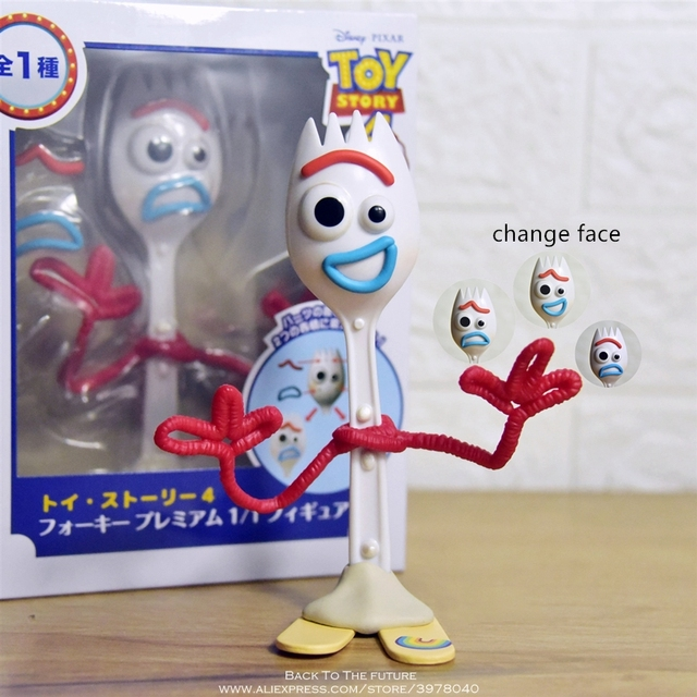 Disney Toy Story 4 Forky change face Q Version 15.5cm PVC Q Version Action Figures mini Dolls Kids Toy model for Children gift