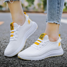 2020 autumn new women's shoes comfortable and breathable casual shoes flying woven sports running shoes trend women(China)