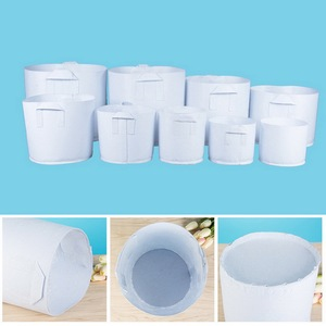 Image 5 - 10pcs Round Plant Grow Bag Fabric Pot Plant Pouch Root Container Cultivation Planting Grow Bag Garden Supplies