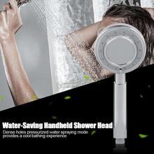 3 Water Spraying Modes Shower Head Handheld Bath Sprayer High Pressure hand shower Bathroom