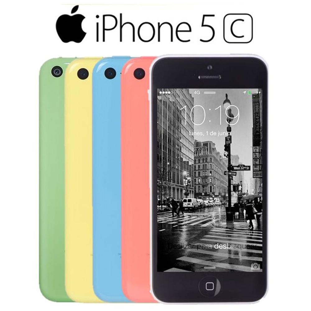 Reconditionné Apple iphone 5C RAM 1G ROM 8G 16 & 32 iOS iphone 5c double coeur écran tactile WIFI GPS GSM HSDPA 8MPix caméra 4.0 iphone 5c