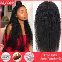 Jaycee 4x4 Lace Closure Wig Curly Human Hair Wig Brazilian Remy Hair Jerry Curl Wig Lace Human Hair Wigs Perruque Cheveux Humain