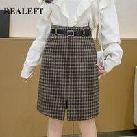 Теплая юбка в клетку с ремнем Цена 1277 руб. ($15.92) | 33 заказа Посмотреть