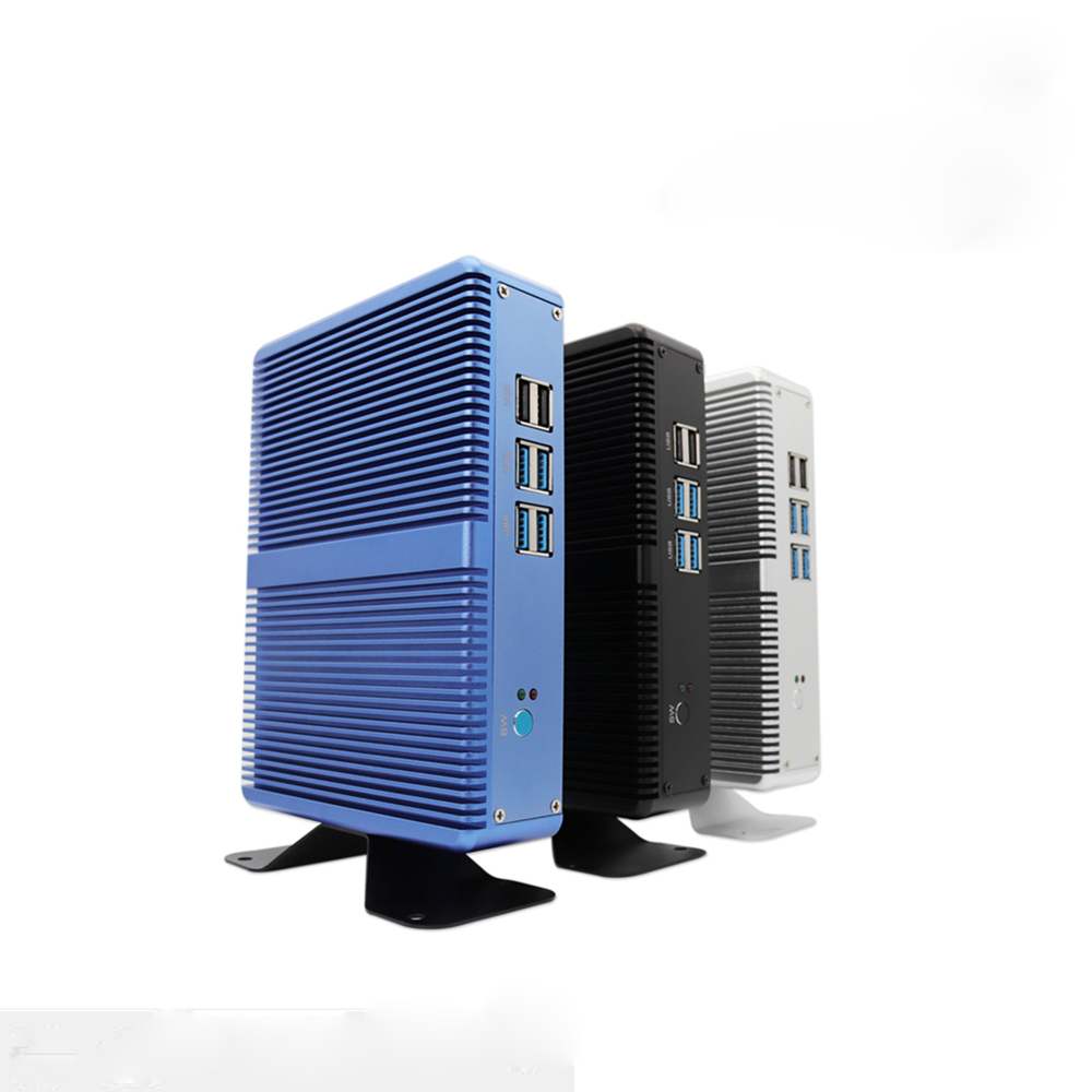 E-Global M3 Mini PC Intel Core I3 5005U  Fanless Intel HD Graphics 5500 Windows 10 Computer 2.4GHz 4K HTPC WiFi HDMI VGA