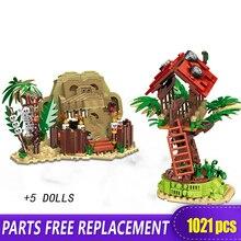 Xingbao 15005 Echt Man Versus Wild Primitieve Stam Bouwstenen Speelgoed Bakstenen Als Grappige Jongen Geschenken Met Figuur Moc Model