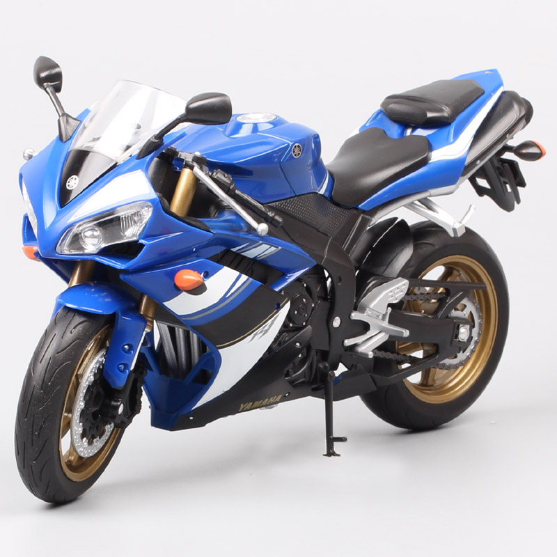 1:10 Scale Welly Big Yamaha YZF-R1 Motorcycle Diecasts & Toy Vehicles Racing Motorbike Model Toy Gift For Collection Of Children