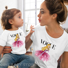 2019 Summer Style Punk Vogue Princess Printed T Shirt Fashion Mom Daughter Clothes Funny Family Look Short Sleeve Tee Shirt