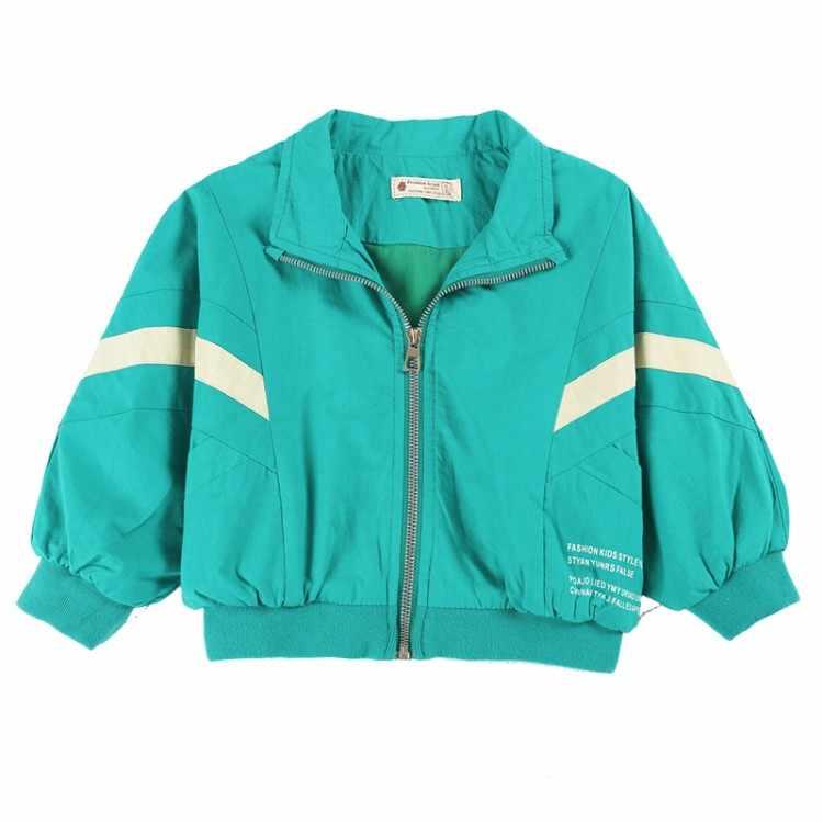 Куртки на молнии с воротником для мальчиков 2019 г., повседневные пальто с длинными рукавами и карманами, Детская осенняя школьная верхняя одежда, куртки для малышей 1, 2, 3, 4, 5 лет