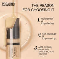 ROSALIND Concealer Corrector 6ml 6 Colors Full Coverage Long Wearing Cosmetics For Face Contouring Makeup Facial Corrector