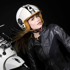 Image 5 - Motorrad Helm Chopper 3/4 Open Gesicht Vintage Moto Helm Moto Casque Casco Capacete Männer Frauen Roller Motorrad Helm