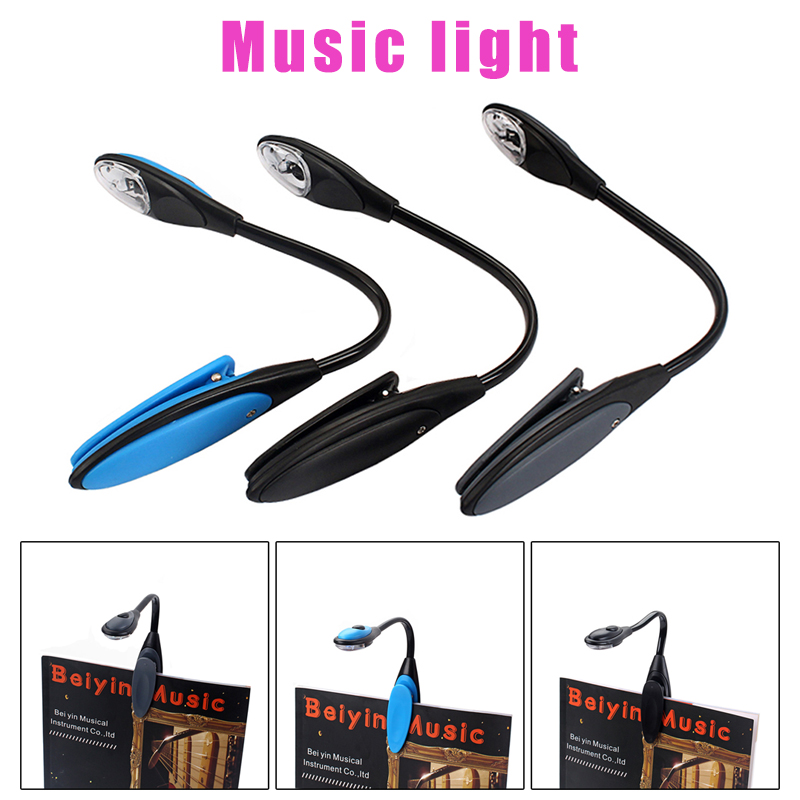Newly Mini Reading Light Lamp Adjustable Clip Flexible Portable For Reading Book Home S66