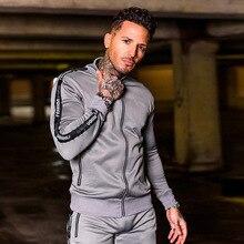 Tracksuit Men Set Polyester Slim Fit Sweat Suits  Mens Jogger Sets Coats and Pants for Men