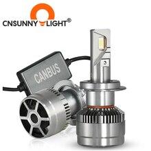 CNSUNNYLIGHT Super Bright 70W/Pair LED H7 H11 Car Headlight 9005 9006 H4 Hi/Lo Bi LED Bulbs H1 320% Brighter Auto Lights 6000K