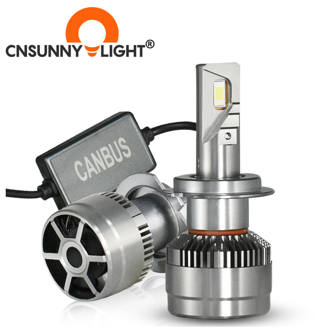 Cnsunnylight super brilhante 70 w/par led h7 h11 farol do carro 9005 9006 h4 hi/lo bi led lâmpadas h1 320% mais brilhante luzes de automóvel 6000k