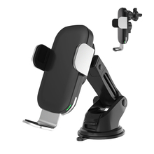 15W Qi Car Wireless Charger Automatic Clamping Fast mount For iPhoneXS Xiaomi Phone Holder