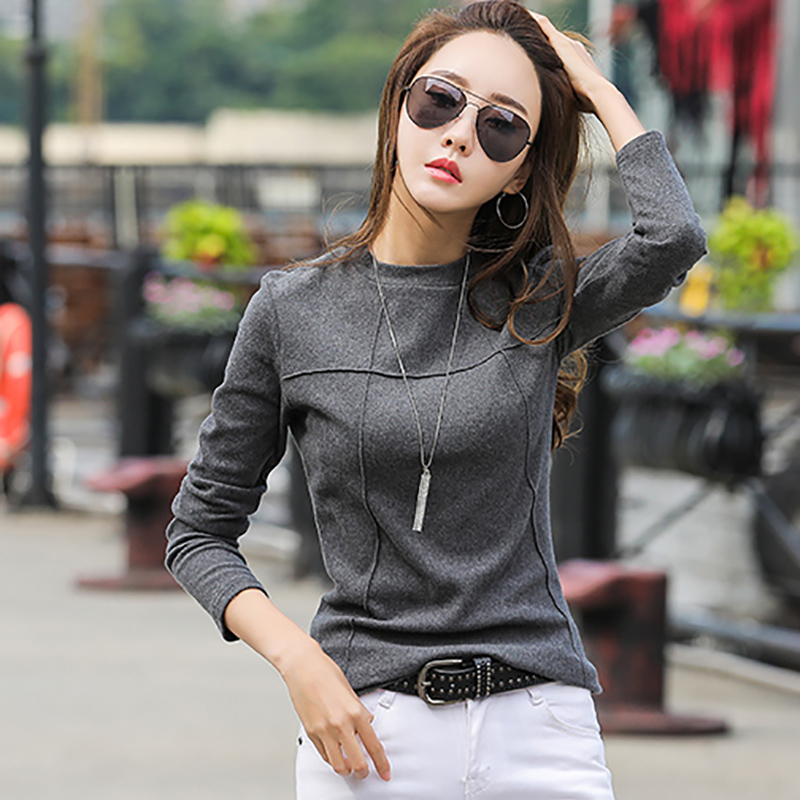 shintimes Autumn T Shirt Women New Arrivals 2020 Winter Tshirt Female Long Sleeve T-Shirt Cotton Korean Clothes Tee Shirt Femme