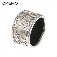 Cremo 2019 New Fashion Women Girl Cute Simple Alloy Love Heart Hollow Rings Temperament Style Ring Jewelry