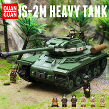 New 1068pcs Military WW2 Soviet IS-2M Heavy Tank Soldier Weapon Building Blocks Model Compatible Legoingly Technic City Toys(China)