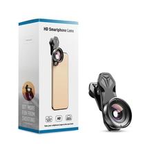 عدسة كاميرا APEXEL للهاتف HD بزاوية واسعة 110 درجة عدسات كاميرا مزدوجة فردية لهاتف آيفون ، بيكسل ، سامسونج جالاكسي جميع الهواتف الذكية