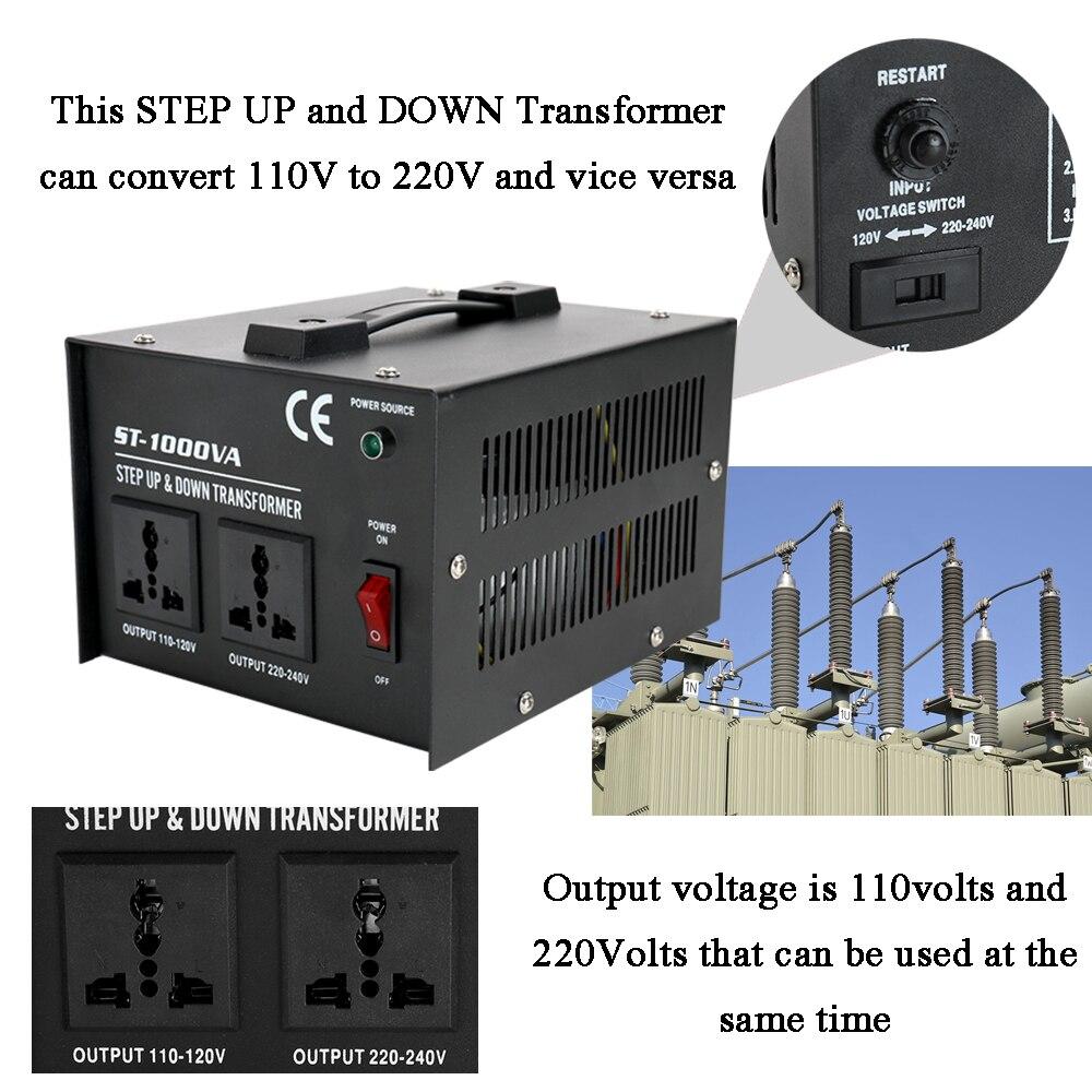 Transformator Smart Effiziente Step Up Transformator ST-100 0W Home-verwenden 100 V-220V Hause Elektrische Appliance spannung Konverter