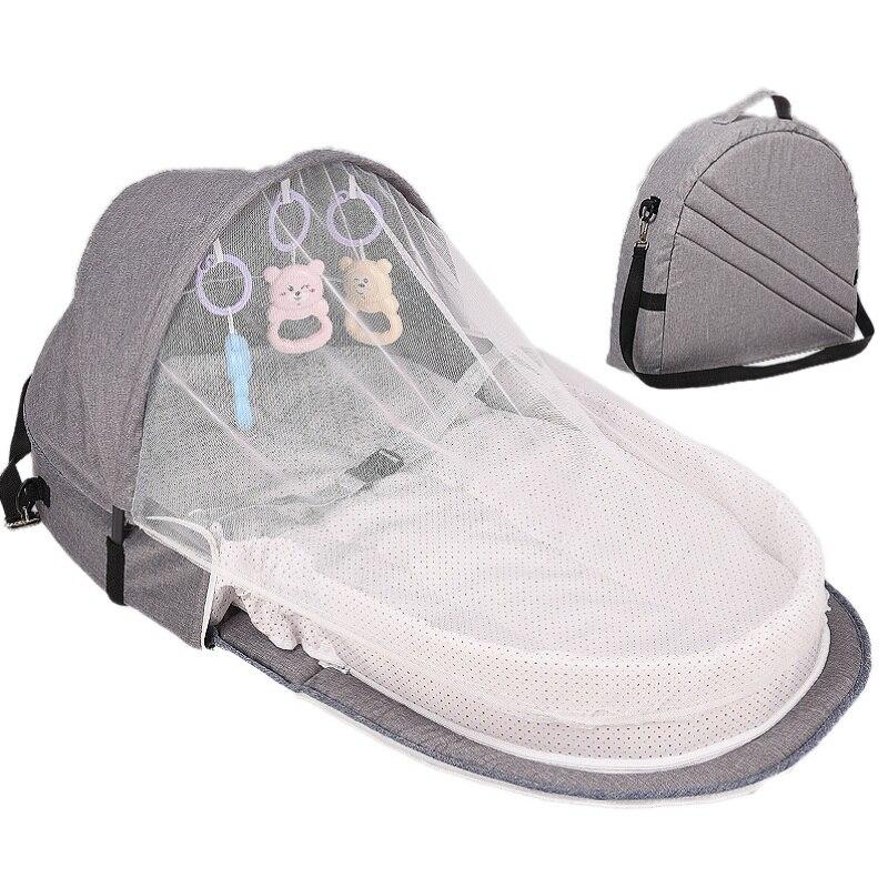 Cama de bebê viagem proteção solar mosquiteiro net com berço portátil bebê dobrável respirável infantil cesta de dormir|Berços|   - AliExpress