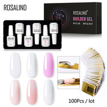 ROSALIND Builder Gel Set Nagellak Clear Nail Gel Vernissen Voor Nail Art Ontworpen losweken Semi Permanente UV Lamp top Base Gel(China)