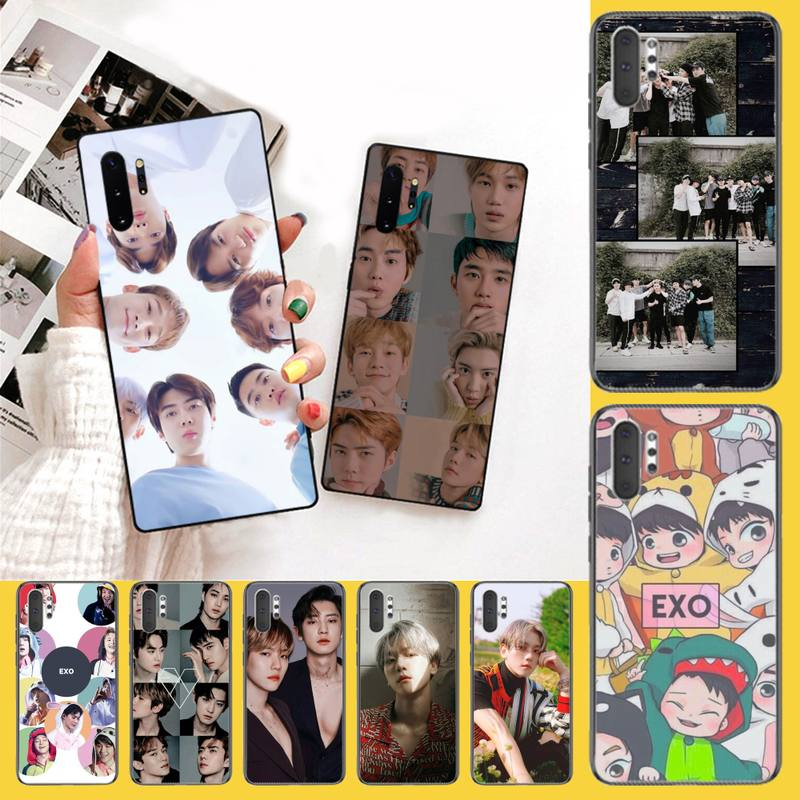 NBDRUICAI <font><b>Kpop</b></font> exo <font><b>Coque</b></font> Shell Phone Case For <font><b>Samsung</b></font> Galaxy J7 J8 <font><b>J6</b></font> <font><b>Plus</b></font> 2018 Prime Note 7 8 9 10 pro image