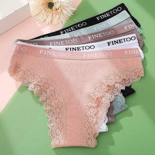 3PCS/Set Lace Lined Cotton Panties 4