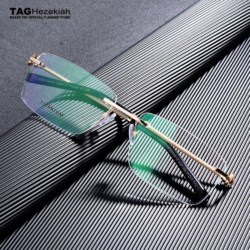 2020 Titanium Glasses Frame Men Rimless Frame Glasses Eye Glasses Frames For Men Spectacle Frames Men Computer Myopia Eyeglasses