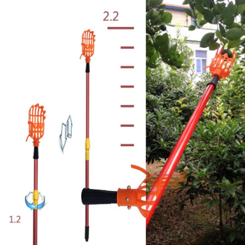 Fruit Picker Picking Tool Picking Home Fruit Cathcer Gardening Outside Farm Portable Device Quicker Hardware Plastic Catcher