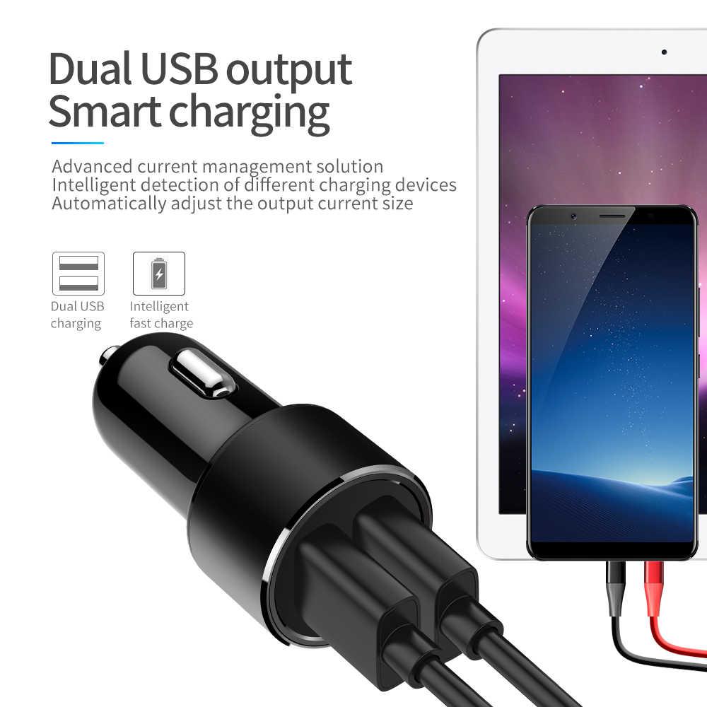 Charger Nirkabel 2USB Cepat Charger Mobil Tablet Ponsel Charger 3.1A Charger Usb Adaptor untuk Mobil Mobil Charger
