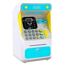Mini BANCO DE dinero ATM con cerradura electrónica, reconocimiento facial, papel de desplazamiento automático, dinero y monedas para niños, adolescentes, niños y niñas