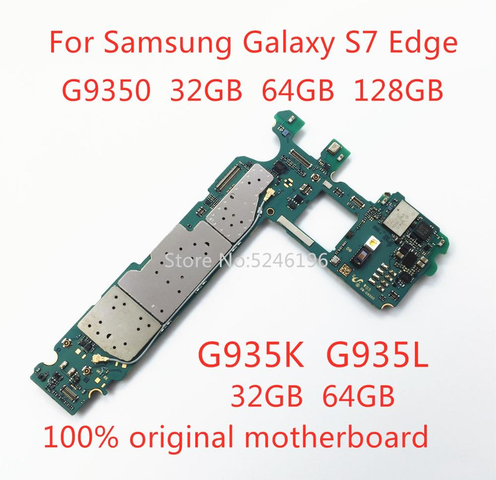 Apply To For Samsung Galaxy S7 Edge G9350 32GB 64GB 128GB G935K G935L 32GB 64GB Original Unlocked Motherboard Replacement