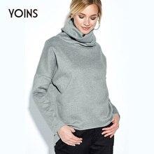 все цены на YONIS 2019 Autumn Winter Women Hoodies High Neck Irregular Hem Casual Sports Long Sleeves Sweatshirt Streetwear Tops Pullovers онлайн