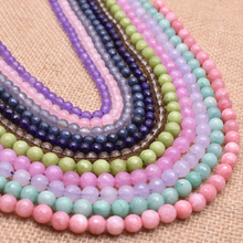 цена Natural Stone Beads Faceted cut Round Beads For Jewelry Making 6/8 mm Section Loose Beads Necklace DIY Bracelet 15