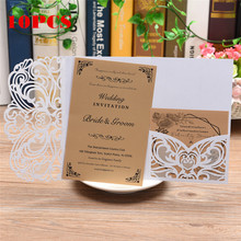 10pcs European Openwork Wedding Invitation Creative Birthday Card Personalized Weddings Stickers Greeting Cards Hot Sale