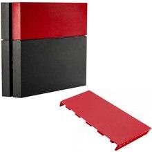 PS4 sólido Rojo Mate HDD Bay Disco Duro cubierta funda/carcasa de repuesto placa frontal para Playstation 4 consola de juego Accesorios