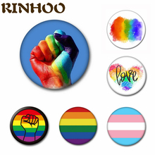 2021 New Design LGBT Pride Rainbow Flag Metal Badge For Backpack Icons Gay Lesbian Asexual Symbol Pin Brooch Lapel Jewelry Gift