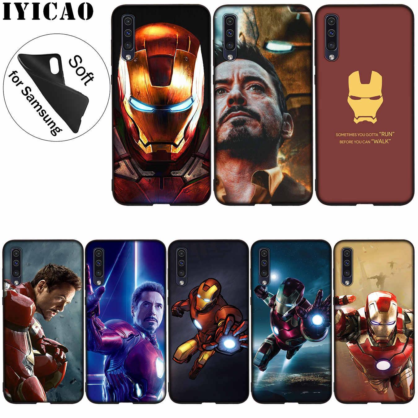 IYICAO Iron Man Marvel Silicone Mềm dành cho Samsung Galaxy Samsung Galaxy Note 9 8 10 Plus M10 M20 M30 M40 10 + Tặng Bao Da